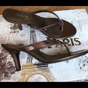Madeleine Stuart Bronze Thong Sandals